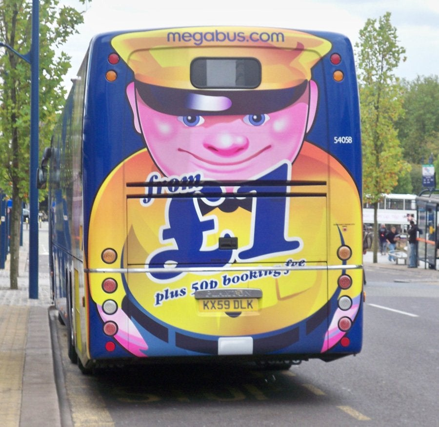 I have always found the Megabus logo creepy as hell.