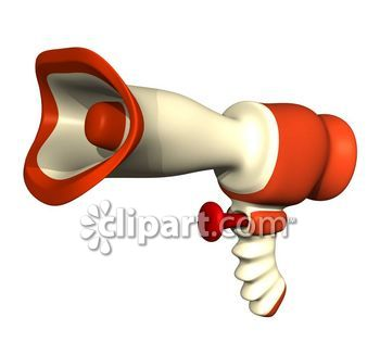 Megahorn and speaking 3D clipart.