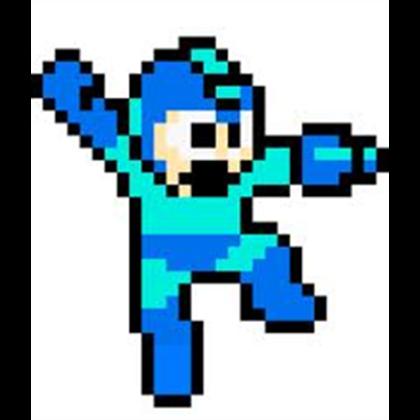 MegaMan Sprite Jumping.