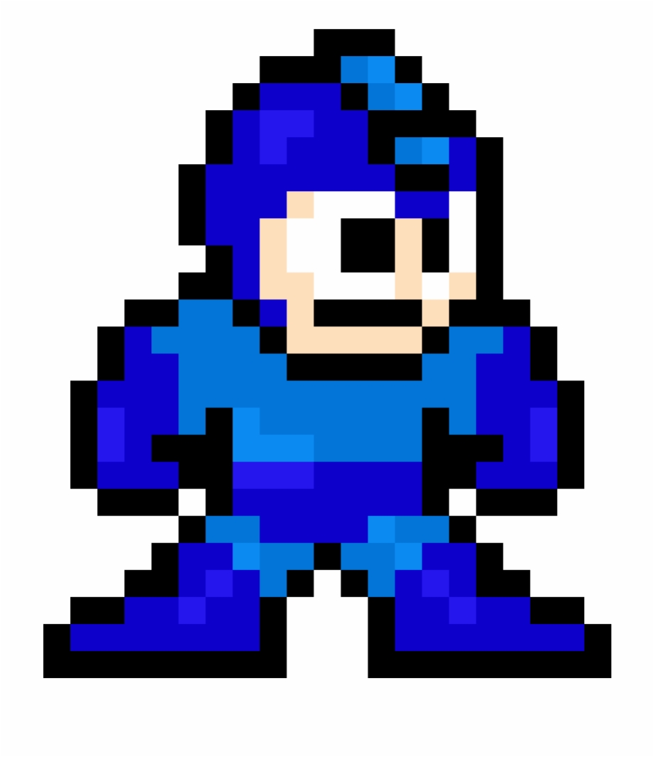 Mega Man Sprite With Shading.