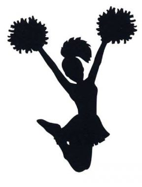 Cheerleading Megaphone And Pom Poms Clipart.