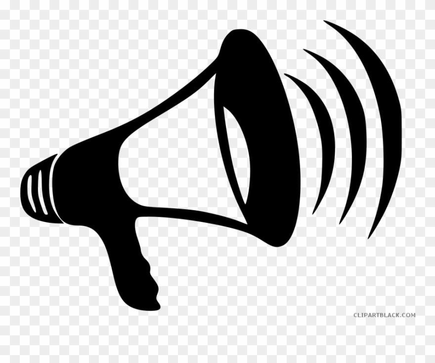 Clipart Stock Megaphone Page Of Clipartblack.