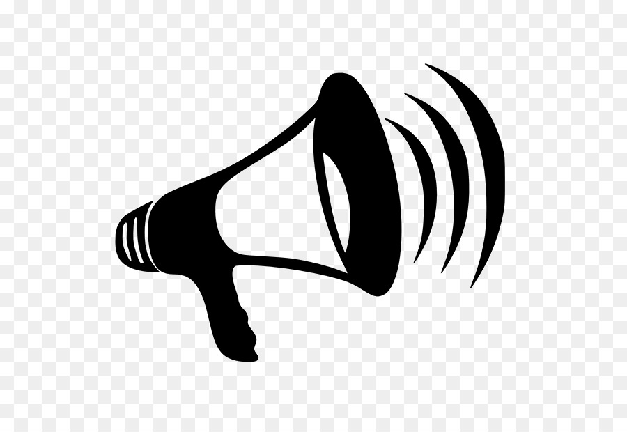 Megaphone Black png download.
