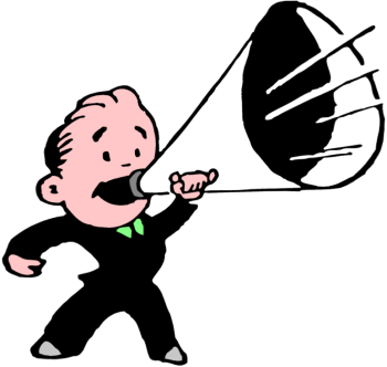 Free megaphone clipart images.