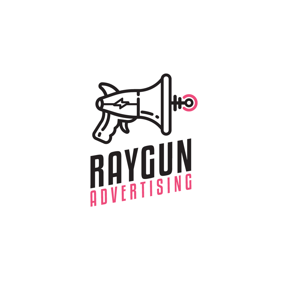 For Sale: Raygun Advertising Megaphone Logo Design.