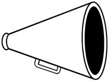 Megaphone Outline Clipart.