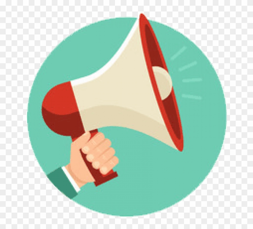 Bullhorn X Megaphone With Hand Png Images.