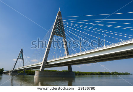 Motorway Bridge Stock Images, Royalty.
