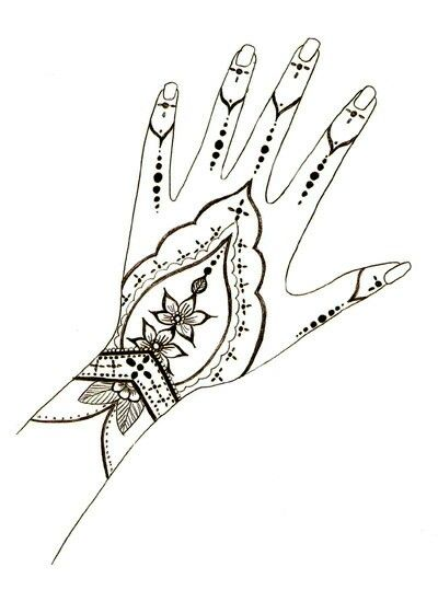 CLIP ART GALORE ~ Henna hand design.