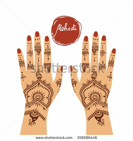 Mehendi Hands Stock Images, Royalty.
