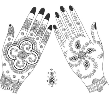 29 innovative Mehndi Designs Black And White.