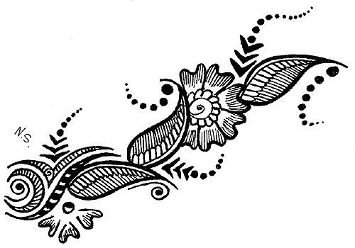 21 excellent Mehendi Design Clipart.