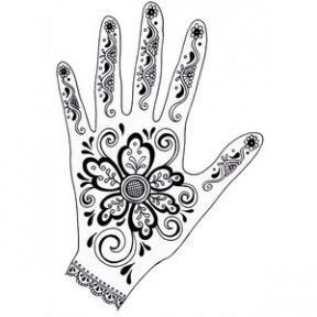 Clipart Mehndi Designs For Hands.