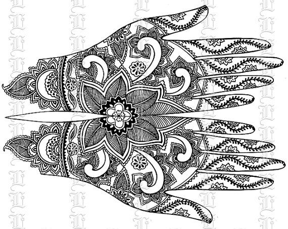 9 Best images about Digital Henna Patterns on Pinterest.