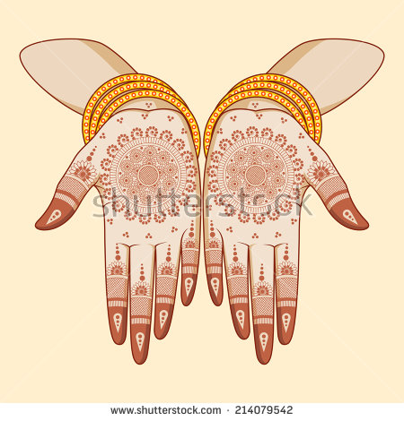 Mehndi Hand Stock Images, Royalty.