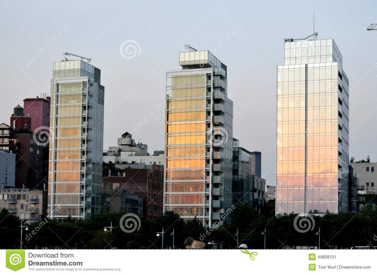Richard Meier Residential Towers West Village NYC Editorial Photo.