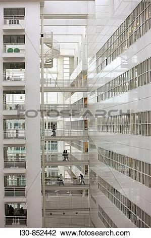 Stock Photo of New City Hall and Central Library building by.