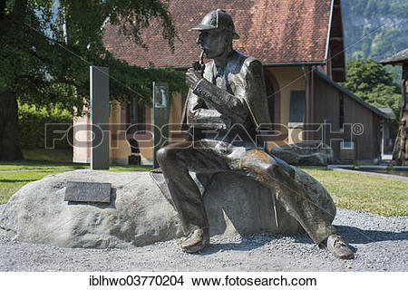"""Stock Photo of """"Bronze statue of Sherlock Holmes in the city."""