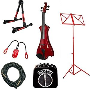 Amazon.com: Red Meisel Electric Violin Deluxe w/Accessories.