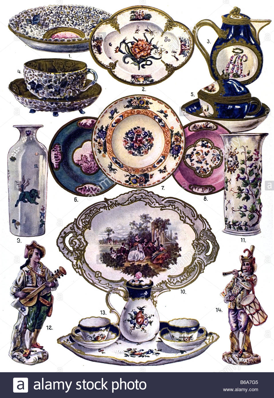 The German Ornament, Meissen Porcelain Stock Photo, Royalty Free.