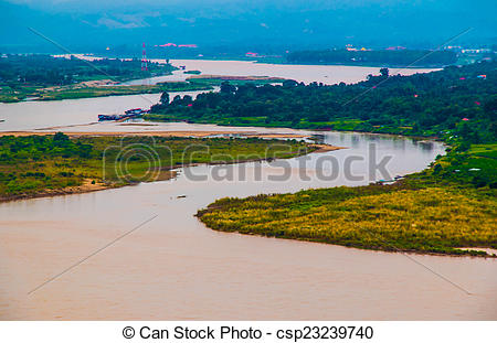 Stock Photo of Mekong river csp23239740.