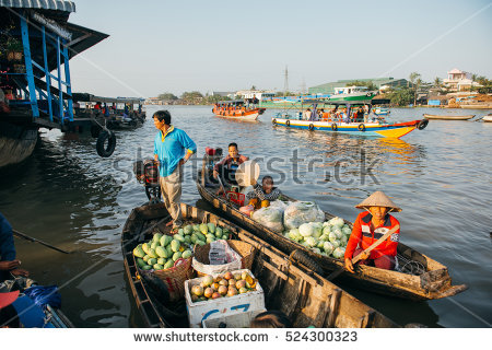 Mekong River Stock Images, Royalty.