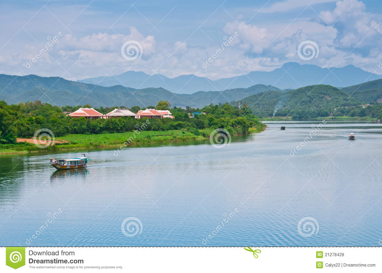 The Mekong River, Vietnam Royalty Free Stock Photos.