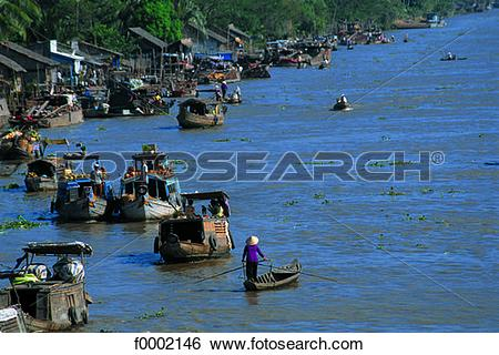 Stock Images of Vietnam, Can Tho, Mekong river delta, Phunghiep.