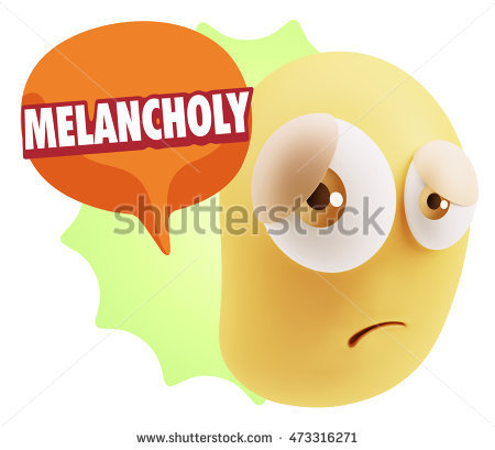 Melancholy Character Stock Photos, Royalty.