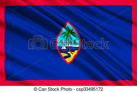 Stock Illustrations of Flag of Guam (US), Hagatna.