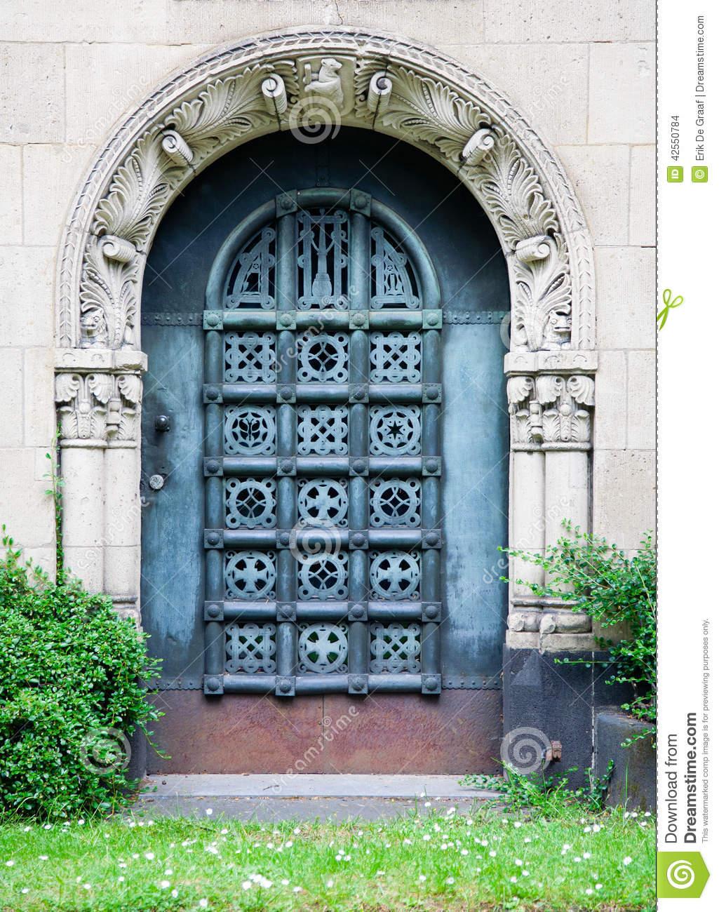 Grave Door Stock Photo.