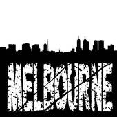Clipart of Melbourne Australia city skyline vector silhouette.