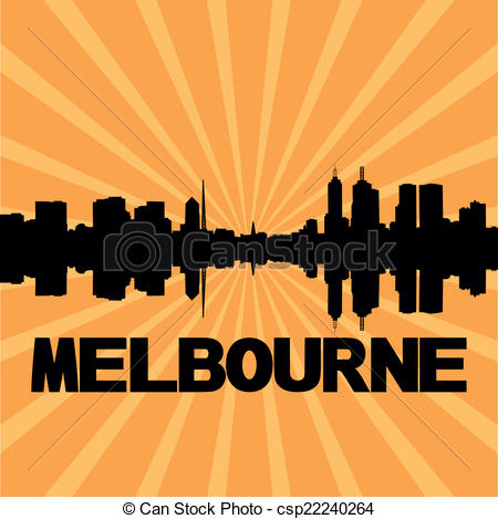 Melbourne skyline Vector Clipart Royalty Free. 98 Melbourne.
