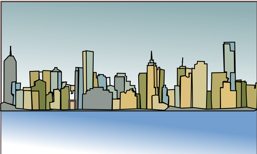Melbourne skyline SVG Vector file, vector clip art svg file.