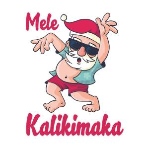 Mele Kalikimaka Papa Mele Hawaii by Louise Lench.