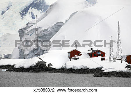 Stock Photo of Antarctica, Melchior Islands, Argentine Research.