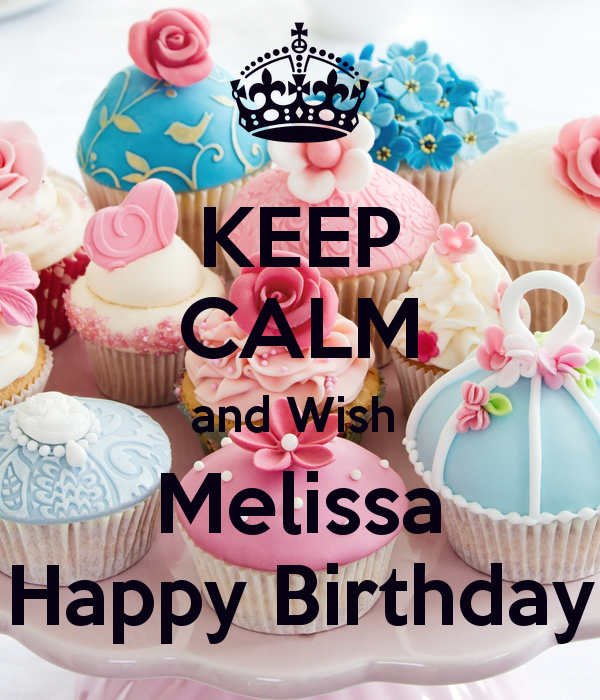 Happy birthday melissa clipart.