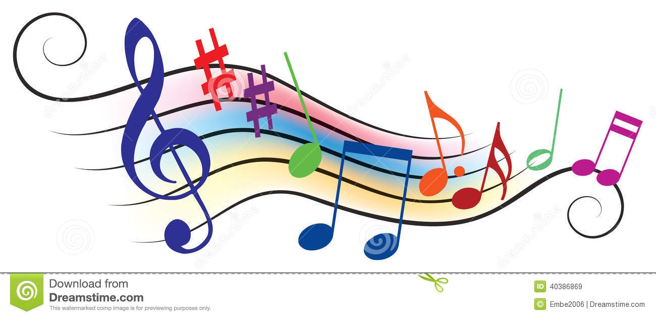 Melody Music Clipart.