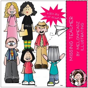 Missing Teacher clip art.
