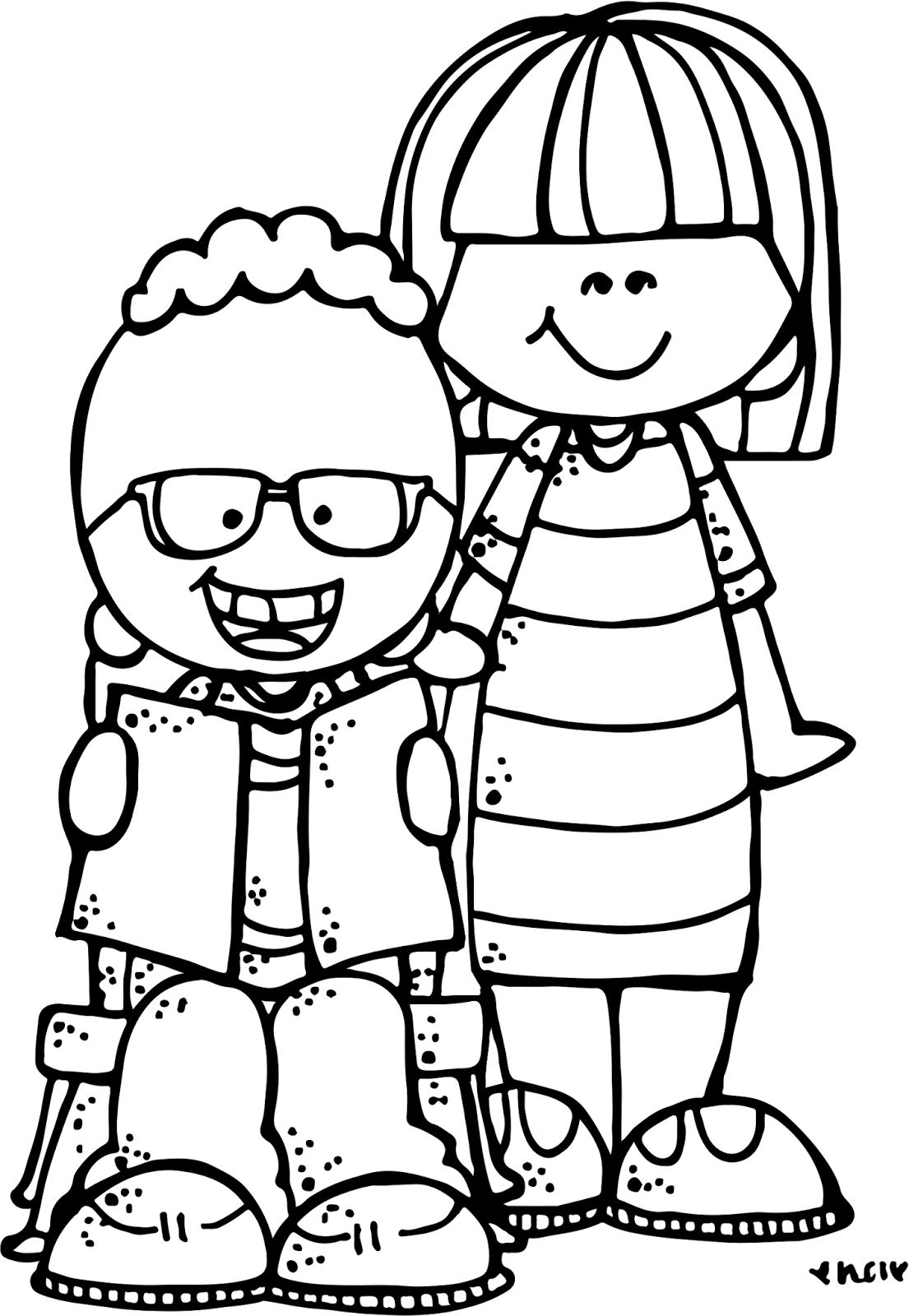 Melonheadz Clipart Black And White.