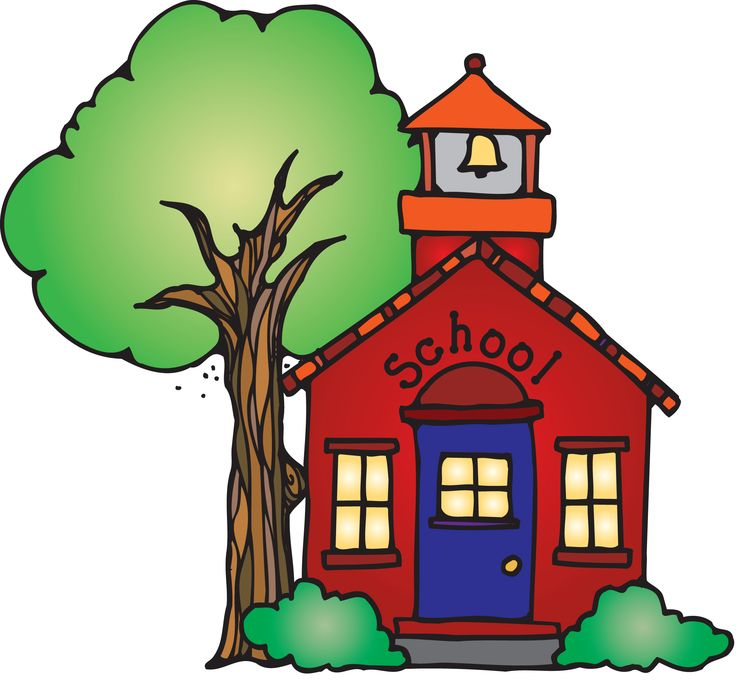 School house clipart melonheadz.