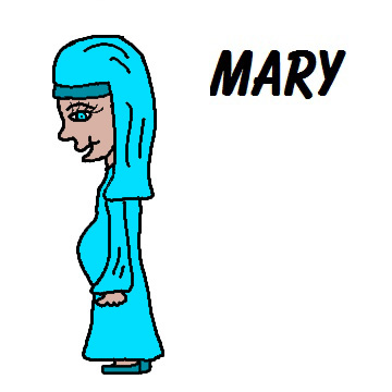 Mary Pregnant With Jesus Clipart.
