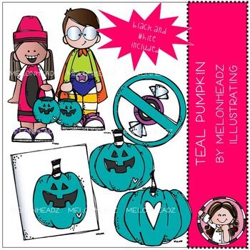 Teal Pumpkin clip art.