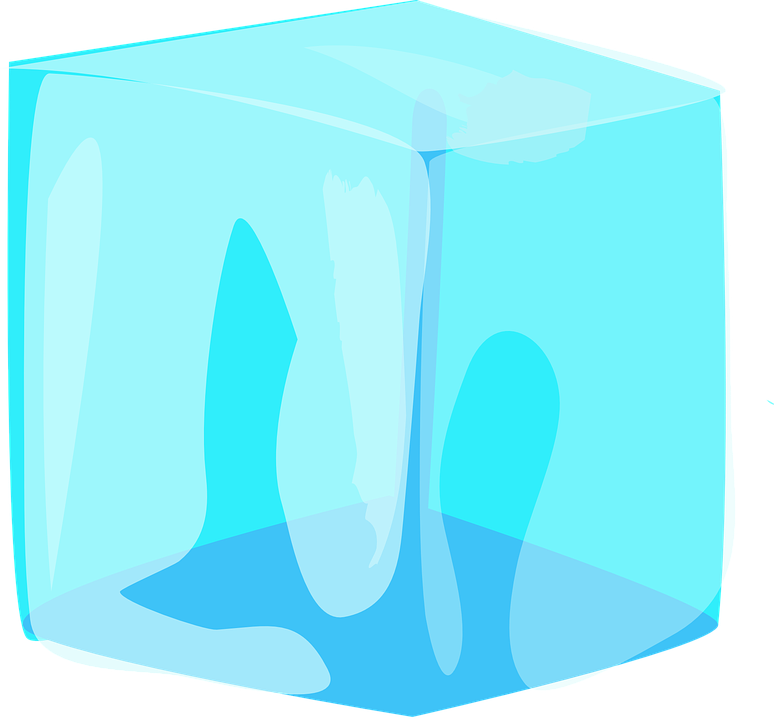 Free photo Melting Blue Cold Block Cube Water Ice Frozen.
