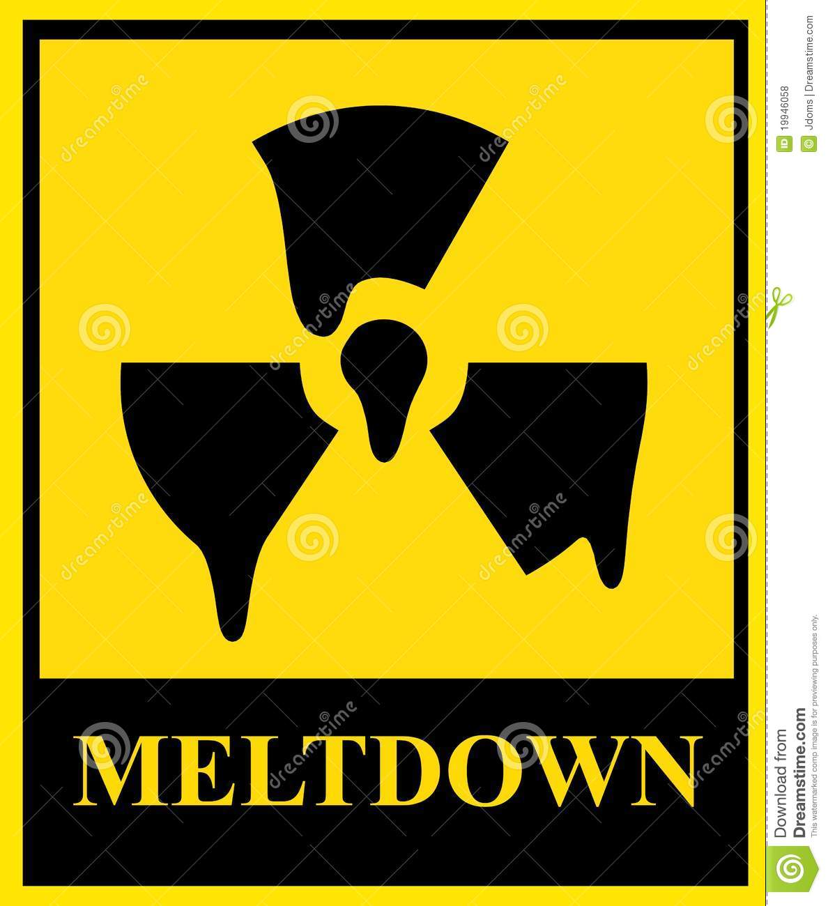 Nuclear Meltdown Sign Royalty Free Stock Photos.