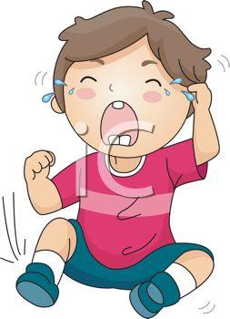 Royalty Free Clip Art Image: Little Kid Having a Meltdown.