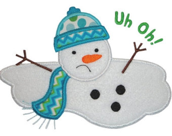 Melted Snowman Clipart.