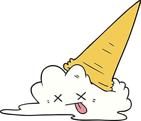 Amazon.com: Sad Dead Melting Ice Cream Cone Cartoon Vinyl.
