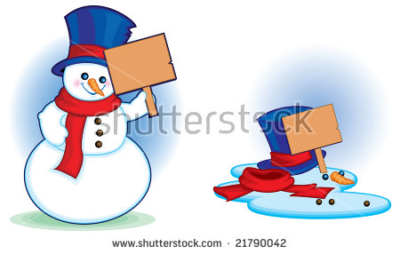Melting Snowman Stock Images, Royalty.