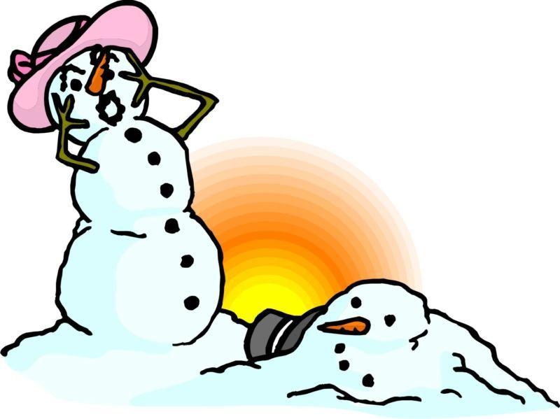 Cute Melting Snowman Clipart#2196089.